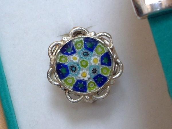 Venezianischer Millefiori Ring - Sterling Silber - 925 - Antica Murrina - BL4 -