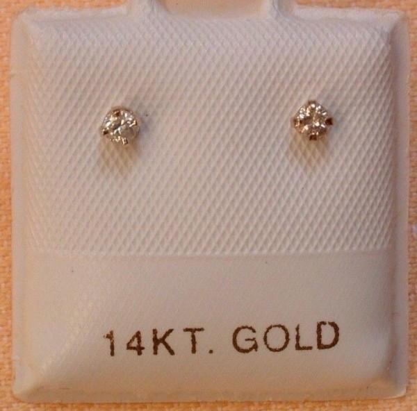 Exclusive Brillant Ohrstecker - weiß - 0,10 ct - 14 Kt. Weißgold - 585 - Silikonverschlüsse - EDEL