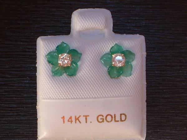 Feinste Brillant - Blüten - Ohrstecker - 0,20 ct. - 14 Kt. Gold - 585 - Ohrringe