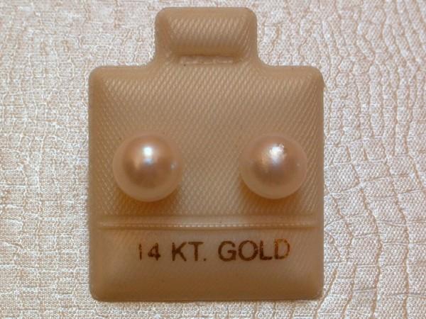 Barocke Perlen Ohrstecker - 7,5 mm - weiss - in 14 Kt. Gold - 585 - Individuell !