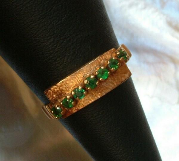 Exclusiver Smaragd Damen Ring - 18. Kt. Gold - 750 - Größe - 52 - second hand - TOP Qualität !