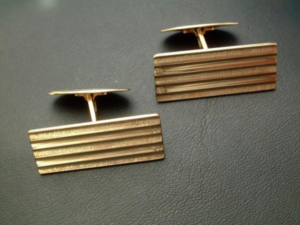 Exclusive klassische Manschetten Knöpfe - 70er Jahre - 8 Kt. Gold - 333 - second hand !