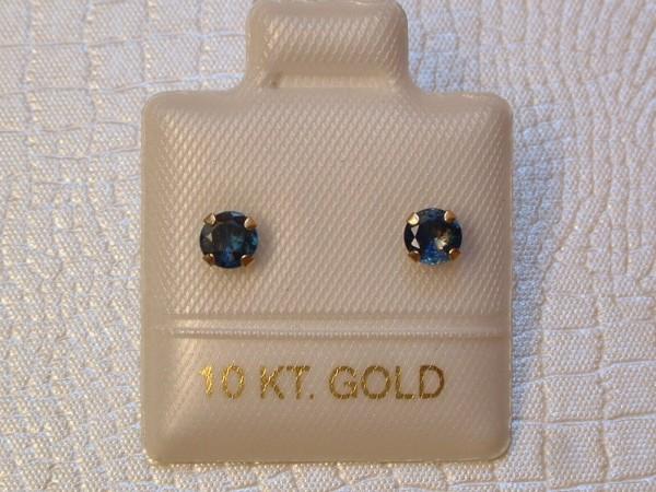 Feinste Saphir Ohrstecker - 0,66 ct. - 10 Kt. Gold - 417 - Ohrringe Brillant Cut