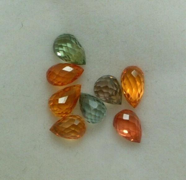 Feinste bunte Saphire - 3-5 mm - Briolett Schliff - Lot mit 3 ct. - FANCY - TOP