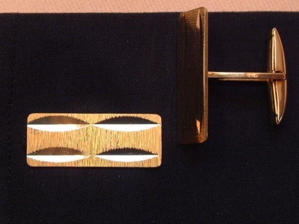 Exclusive klassische Manschettenknöpfe - 70er Jahre - 18 Kt. Gold - 750 - second hand !