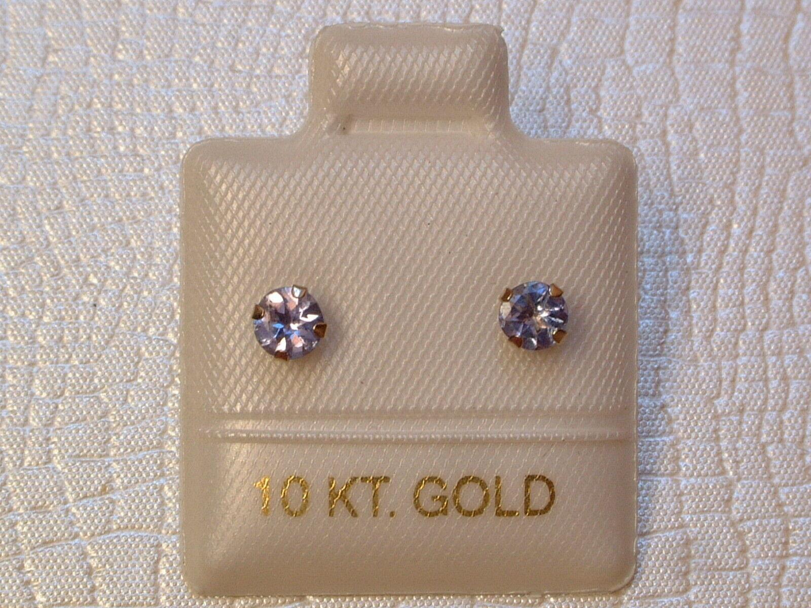 10 Kt Brillant Schliff 3,5 mm 417 Weiß Gold Peridot Ohrstecker Ohrringe
