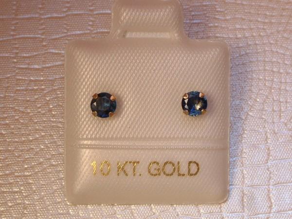 Feinste Saphir Ohrstecker - 0,64 ct. - 10 Kt. Gold - 417 - Ohrringe - Brillant Schliff