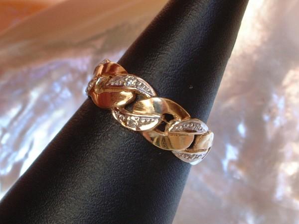 Exclusiver Damen Ring mit Brillanten - 0,02 ct. - 14 Kt. Gold - 585 - second hand - Gr. 56