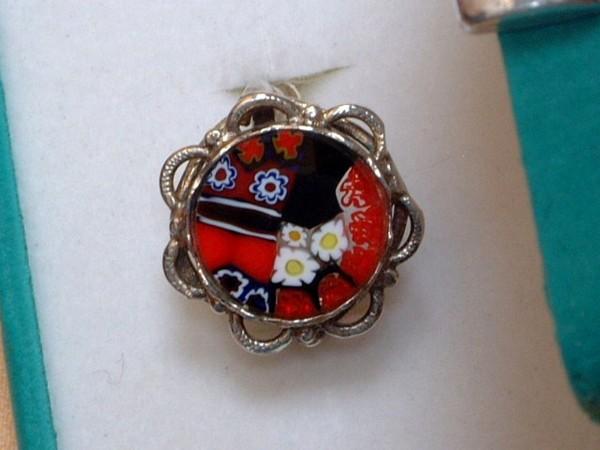 Venezianischer Millefiori Ring - Sterling Silber - 925 - Antica Murrina - BL5 -