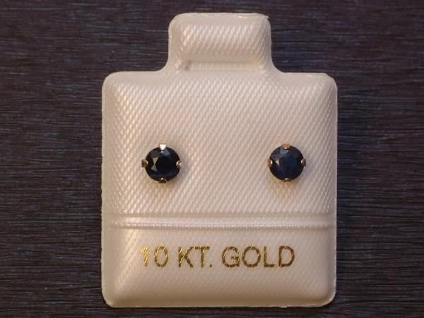 Feinste Saphir Ohrstecker - 0,65 ct. - 10 Kt. Gold - 417 - Ohrringe - Brillant Schliff